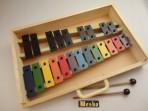 Metalofono 22 notas cromatico colores