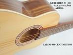 Guitarra Mesko  M - 00 Estudio  Cuerdas  Nylon  5 - 6 Años Aprox.largo 080 Centimetros (PRODUCTO AGOTADO)