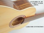 Guitarra Mesko  M - 00 Estudio  Cuerdas  Nylon  5 - 6 Años Aprox.largo 080 Centimetros