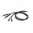 Cable Proel DH 630 LU 09  Plug Plug  6.30 Mono + RCA RCA