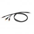 Cable Proel DH 525 LU 3 Plug 6.3 Mono - RCA - RCA  3 Metros