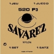 Juego De Cuerdas Nylon  Savarez 520 P3  Tensión Normal Para Guitarra Clásica