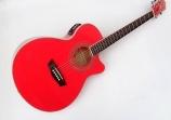 Guitarra Washburn  Cuerdas Metalicas EA 12 Electroácustica Equalizador Con Afinador   Barcus Berry