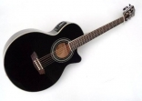 Guitarra Washburn EA 10 / B Cuerdas Metalicas Electroácustica Con Equalizador y Afinador  Barcus - Berry