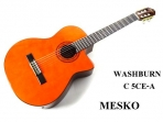 Guitarra Washburn Cuerdas Nylon Con Equalizador  Con Afinador Barcus Berry