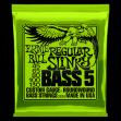 Juego de 5 Cuerdas Para Bajo Ernie Ball 2836 Regular Slinky 045 - 065 - 080 - 100 - 130 Made In U S A