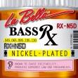 Juego de 5 Cuerdas La Bella RX - N5D  Para Bajo Eléctrico 045 - 065 - 085 - 105 - 130