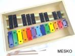 Metalófono 22 Notas Cromático, de Color, Placas Grandes de Aluminio