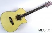 Guitarra Oscar Schmidt AUDITORIUM, BY WASHBURN  Electroácustica Ecualizador con Afinador 21 Espacios