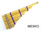 Zampoña Malta 9/10 tubos, Largo 44 centimetros Aprox. Producto de Calidad ( PRODUCTO AGOTADO )