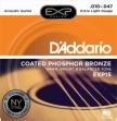 Juego de 6 Cuerdas Metálicas D'ddario EXP 15 Phosphor Bronze 010 - 047