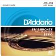 Juego de 6 Cuerdas Metálicas D'ddario EZ 910 Bronze  011 - 052