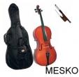 Violoncello Cervini HC - 100 1/2 Incluye - Arco - Resina  - Funda