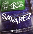 Juego de Cuerdas Metálicas Savarez A 130 XL Para Guitarra Acustic Bronce  010 - 047