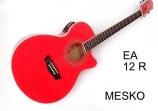 Guitarra Washburn  Cuerdas Metalicas EA 12 R  Electroácustica Equalizador Con Afinador   Barcus Berry