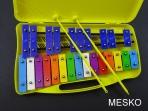 Metalófono 25 Notas Cromático, de Color Placa Mediana, Duro Aluminio
