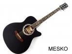 Guitarra Mercury MPEA 1 NE Negra Cuerdas Metálicas Electroácustica, Caja Baja (PRODUCTO AGOTADO)