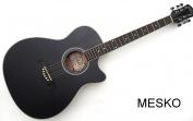 Guitarra Oscar Schmidt by WASHBURN  OACEBM - A Cuerdas Metálicas con Equalizador Barcus Berry con Afinador, Color Negro Mate