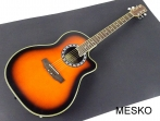 Guitarra Memphis Cuerdas Metalicas Caja de Resina Electroacústica con Equalizador