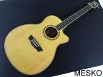 Guitarra Washburn WF 18 CEN Electroacústica Cuerdas metálicas con Equalizador Fishman con Afinador