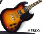 Guitarra Elécrica Memphis S G - 2 Cápsulas Dobles, 22 Espacios, Tira Cuerdas y Puente Estilo Les Paul