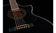 Guitarra Cort  NDX - 20 BK Cuerdas Metálicas, con Equalizador Fishman Presys