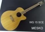 Guitarra Washburn WG  15 SCE Jumbo, Cuerdas Metálicas, 20 Espacios, Equalizador Fishman 301T con Afinador