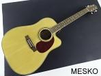 Guitarra Memphis Folk DG 300 OC Cuerdas Metálicas,  con Equalizador