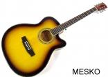 Guitarra Valenciana Cuerdas Metálicas con Equalizador Incluye Funda, AR