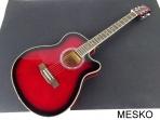 Guitarra Valenciana Cuerdas Metálicas con Equalizador Incluye Funda, RJ