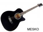 Guitarra Valenciana Cuerdas Metálicas con Equalizador Incluye Funda NG