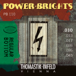 Jugo Cuerdas Thmastik Power Brights  PB 110 = 010 - 013 - 017 - 026 - 035 - 045