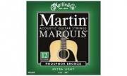 Juego de 6 Cuerdas metálicas  Martin  M 1000 Maquis Bronze 80/20 Para Guitarra  Acústica