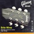 Juego de 6 Cuerdas Gibson Brite Wires Para Guitarra Eléctrica 10 - 13 - 17 - 26 - 36 - 46  USA