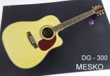 Guitarra Memphis Folk DG - 300  Cuerdas Metálicas