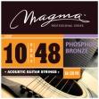 Juego de Cuerdas Metálicas Guitarra Acustica Phosphor Magma GA 120 PB