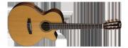 Guitarra Cort CEC - 7 NAT Cuerdas Nylon con Equalizador Fishman con Afinador Incluye Funda