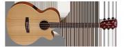 Guitarra Cort Cuerdas Metalicas  SFX1F - NS  Electroacústica con Equalizador  Fishman con  Afinador Incluye Funda