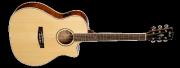Guitarra Cort GA - FF - NAT Cuerdas Metálicas con Equalizador Fishman con Afinador Incluye Funda