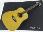 Guitarra Washburn WD - 10 Cubierta Pino Abeto Solido Caja de Caoba Puente y Diapason de Palisandro