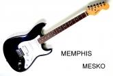 Guitarra Eléctrica Memphis FTAST - 32 - 2 Capsulas  mas 1 Doble - Color Negro y Sanburst   ( 6 )