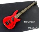 Memphis  FTSRB 4 RED ROJO 4 Cuerdas  24 Espacios 2 Capsulas ( 8 )