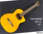 Guitarra Takamine GC - 6 NT,  20 Espacios, Cuerdas Nylon, con Equalizador  Takamine TP-4 T