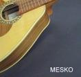 Mandolina Mesko 12 Cuerdas Cubierta de Pino Abeto Solido, Caja de Jacaranda o Nogal Solido,  Brazo de Cedro