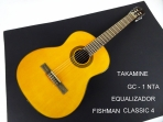 Guitarra Takamine GC - 1 NAT Clásica Cuerdas Nyon con Equalizador Fishman Classic 4 Instalado por Mesko