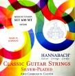 Juego Cuerdas Nylon Hannabach 600 MT Media Tensión Para Guitarra