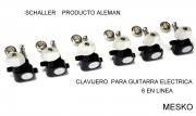 Clavijero Schaller para Guitarra Eléctrica 6 en Linea  Producto Aleman