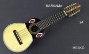 Markama, Charango Tallado, Tapa Pino Abeto Caja Naranjillo, Construido con Maderas Solidas, Incluye Fuda  ( 24 )