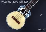 Willy Cerrudo Torrico, Charango Tapa Pino Abeto, Caja Naranjillo, Puente y Diapasón de Jacarandá, Incluye Funda ( 29 )