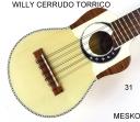 Willy Cerrudo Torrico, Charango Tapa Pino Abeto, Caja Naranjillo, Puente y Diapasón de Jacarandá, Incluye Funda ( 31 )